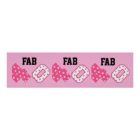 FAB Forty 40th Birthday PINK and WHITE STARS Print