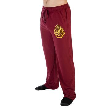 Harry Potter Hogwarts Crest Burgundy Sleep Lounge Pants
