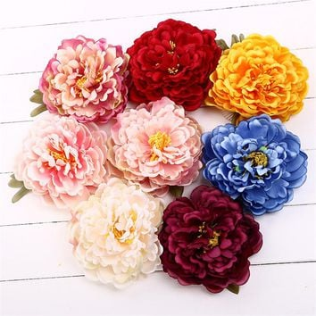 New DIY Headdress Hair Accessories Bridal Wedding Silk Artificial Flower Peony Flower Hairpin Beach Hair Clip Hair Ornament