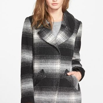 Women's Jessica Simpson Brushed Plaid Coat,