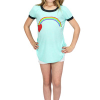 Mint Green Rainbow Tee