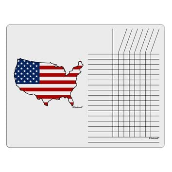 United States Cutout - American Flag Design Chore List Grid Dry Erase Board by TooLoud