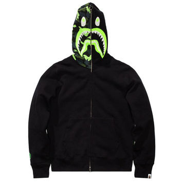 BAPE 1ST CAMO NEON SHARK FULL ZIP HOODY | Undefeated