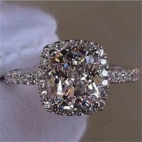 Bezel Cut Engagment Ring