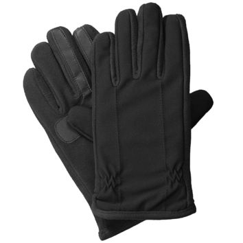 Isotoner mens active stretch nearly invisible Smartouch Gloves