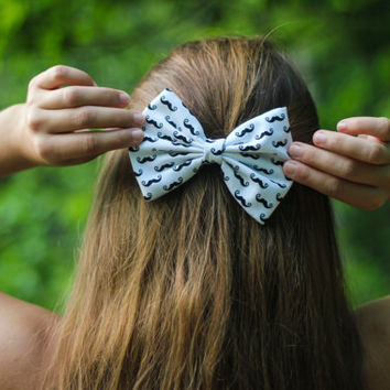 Mustache Hair Bow - I Mustache You a Question