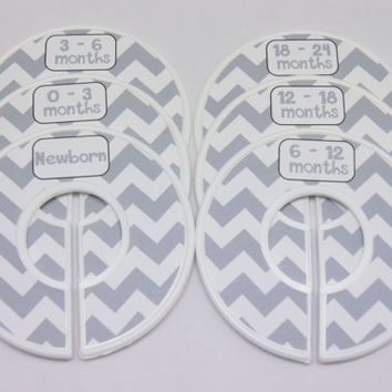 6 Custom Baby Closet Dividers Clothes Organizers Baby Nursery Shower Gift Finished Closet Dividers CD168