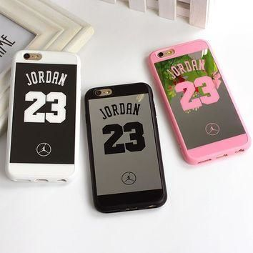 23 Jordan Mirror Surface TPU Side Case For iPhone 5 5S 6S 6 7 Plus