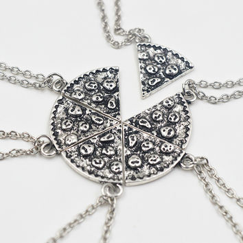 6 Slices of Pizza Friendship Necklaces