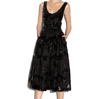 SEQUINED NETTING STELLA DRESS