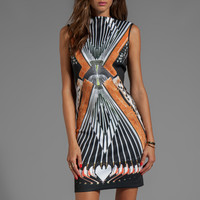 Clover Canyon Accordian Neoprene Dress in White from REVOLVEclothing.com