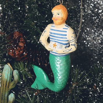 Merman Ornament - Green - What's New at Gypsy Warrior