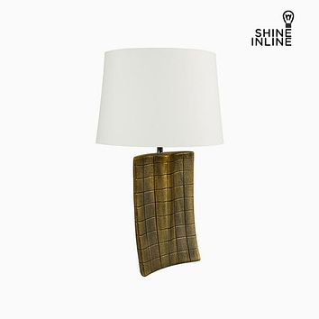 Desk Lamp Gold Ceramic (34 x 9 x 61 cm) by Shine Inline
