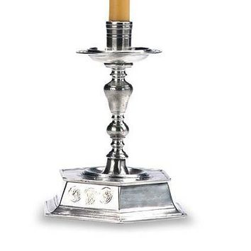 Match Pewter Flanders Candlestick