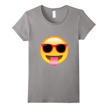 Glasses Emoji with Tongue Out shirts