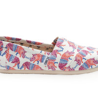 TOMS TOMS Animal Initiative Rhino Print Women's Classics White