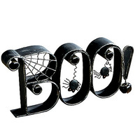 Boo Metal Decor - Spirithalloween.com