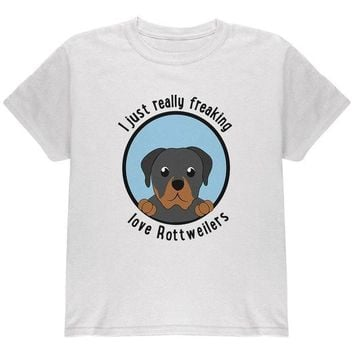 DCCKJY1 I Just Love Rottweilers Dog Youth T Shirt