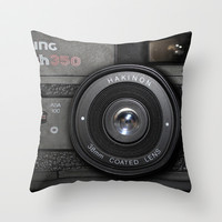 Camera II Throw Pillow by Nicklas Gustafsson