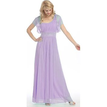 Ankle Length One Shoulder A Line Lilac Formal Dress
