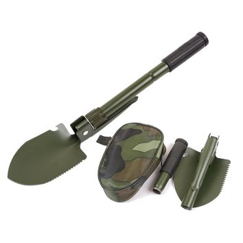 Multifunctional Military Portable Folding Camping Shovel Survival Spade Trowel Dibble Pick Emergency Garden Outdoor Tool
