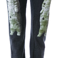 Wildfox Couture Zombie Cat Malibu Skinny Pants Clean Black