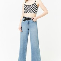 Checkered Cropped Cami