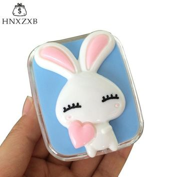 HNXZXB  Cute Contact Lenses Storage Box Cartoon Rabbit Contact lens Box Eyes Care Kit Holder Travel Washer Cleaner Container