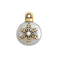 Origami Owl Custom Jewelry - Snowflake Ornament with Crystal Accent Charm