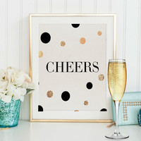 PRINTABLE ART,Cheers Sign,Cheers And Beers,Party Printables,Celebrate Sign,Inspirational Quote,Home Art,Bar Sign,Bar Table,Motivational Art