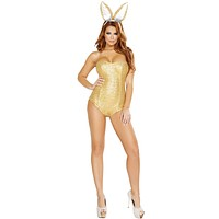 Golden Playboy Bunny Halloween Costume