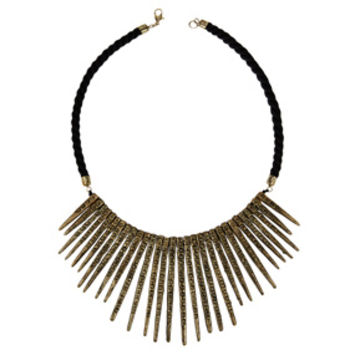 Spiked Cord Necklace