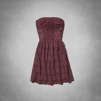 Tessa Strapless Lace Dress