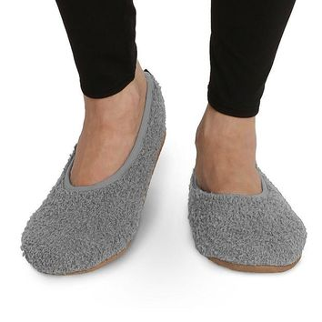DCCKNY1 Pembrook Super Soft Slippers ¨C Ballet Style and Non-Skid Sole - Faux Sherpa Shearling Lining - Memory Foam, women, girls