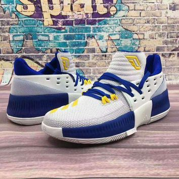 DCCKXI2 ADIDAS Lillard 3 basketball sneakers Running shoes blue shoelace