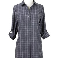 Constance Plaid Shirtdress