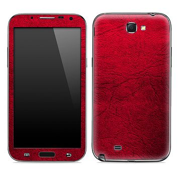 Red Leather Skin for the Samsung Galaxy Note 1 or 2