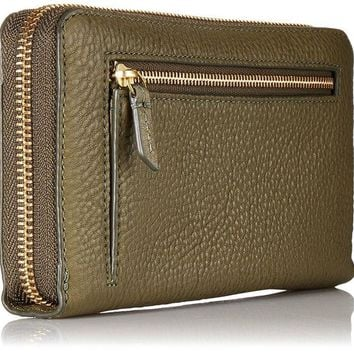 DCK4S2 Fossil Emma Rfid Large Zip Clutch Rosemary Wallet