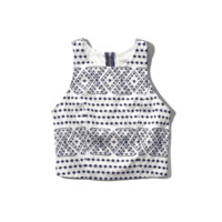 Patterned Crop Shell