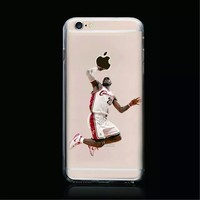 Online Shop All Star The King LeBron James Soft TPU Clear Case for iPhone 6 4.7 inch Basketball Slam Dunk Phone Shell|Aliexpress Mobile