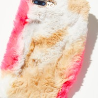 Free People Colorful Faux Fur iPhone Case