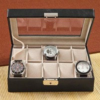 Personalized Leather Watch Box and Watch Case Free Engraving