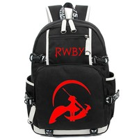 USA Anime RWBY Backpack Men Cartoon School Shoulder Travel Laptop Book Bag for Teenagers Cosplay Student Bag Gift