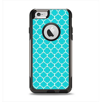 The Teal And White Seamless Morocan Pattern Apple iPhone 6 Otterbox Commuter Case Skin Set