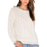 Generation Love Phoebe Cable Knit Sweater in Cream