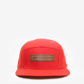 I AM PROFOUND Five Panel Hat in Red