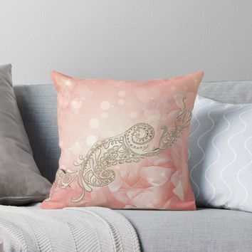 'Beautiful flowers in soft colors' Throw Pillow by nicky2342