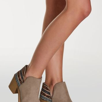 Tribal Print Ankle Booties