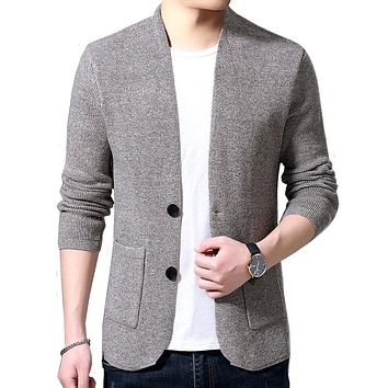 High Quality V-neck  Men's Cardigan Jacket