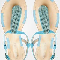 Paper Dolls Turquoise Toepost Flat Sandals